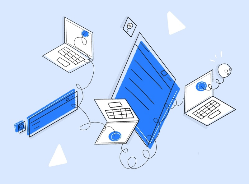 Get Digital blue technology computers github minimal illustration
