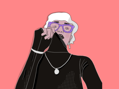 Sweater Weather glasses profile normcore illustration sweater person fashion