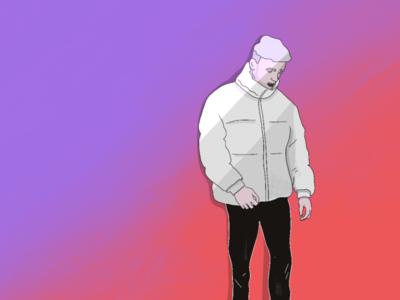 Warmer Winter gradient procreate normcore style jacket illustration winter fashion