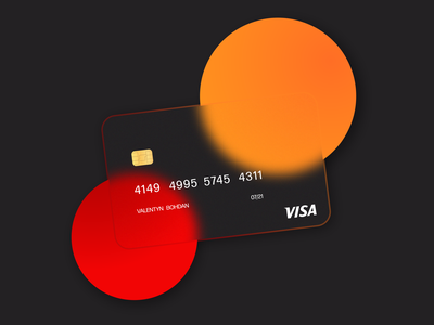Credit card desing in glassmorphism style ux design ux uidesign ui design ui credit card card glassmorphism glass design illustration