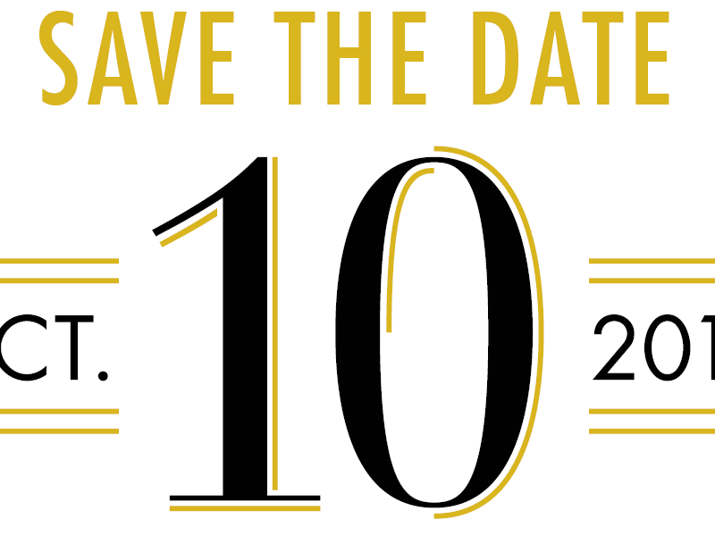 Save the Date dropline bodoni futura formal