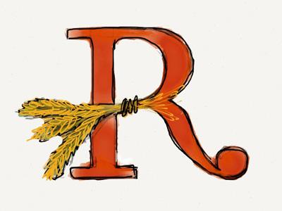 'R' Beer Logo Piece
