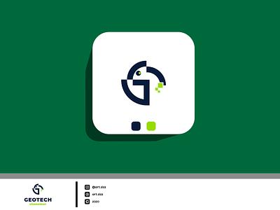 GEOTECH app art chameleon line art for sale logotype logomaker tech inspiration awesome logo typography vector minimalist logo design lineart flat icon branding adobe photoshop