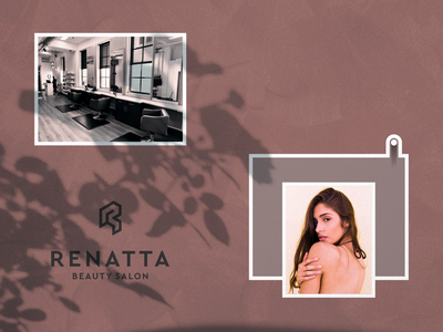 RENATTA spa fashion design lettering corporate design modern logo logosai creative design for sale awesome logo lineart typography minimalist vector logo design branding adobe photoshop luxury design woman beauty salon