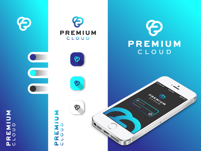 Premium Cloud inspiration logotype company logo simple design creative design logosai for sale awesome icon typography minimalist vector logo design branding adobe photoshop modern logo tech application cloud premium design