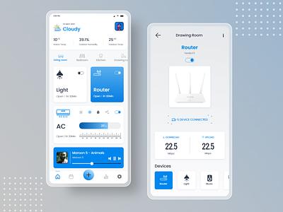 Smart Home App UI smart device mobile ui mobile app home automotion remote control smart home smart home app user interface design uxdesign uiux ui design ui