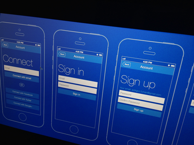 Connect Page wireframe connect login iphone ios user interface ui design ux experience
