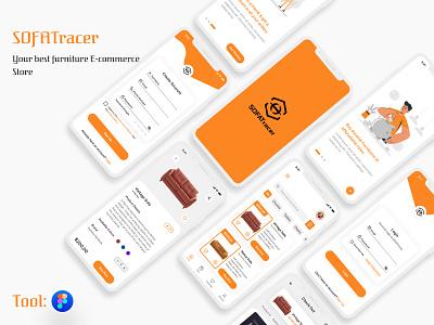 SOFATracer E-commerce Furniture Store minimal product design mobile design design uidesign ui uiux mobile ui furniture store furniture app online shopping online store productdesign mobile app