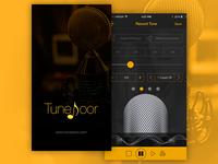 Tunedoor Splash & Record Screen