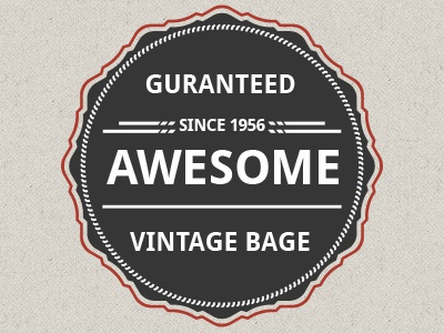 Awesome vector vintage badges