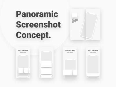 Appstore Panoramic Screenshot Concept