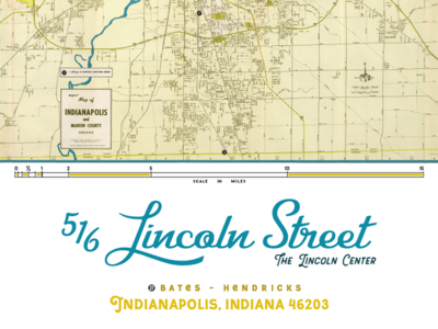 Indianapolis Address Map Poster