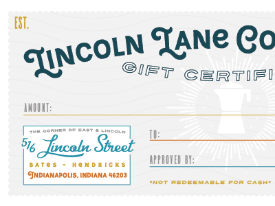 Gift Coffee Certificate