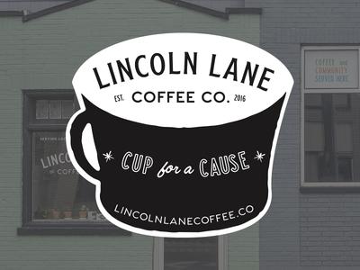 Lincoln Lane Coffee Sticker 1