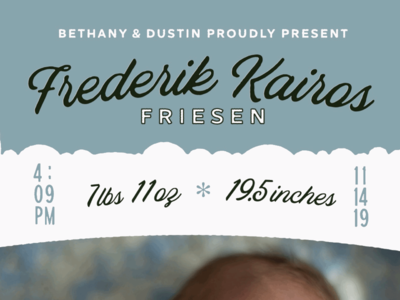 Frederik Birth Announcement