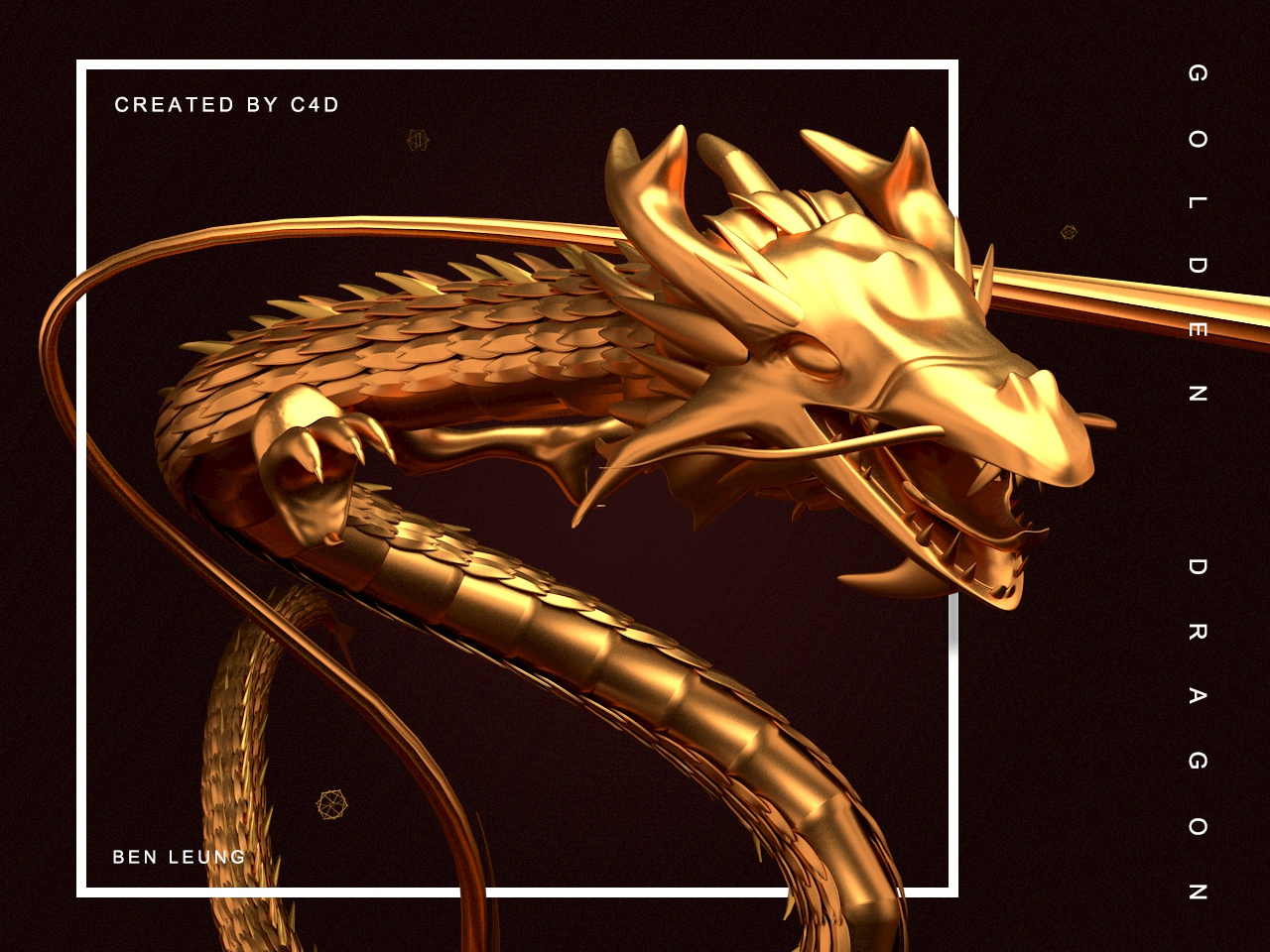 Golden dragon by Ben Leung on Dribbble
