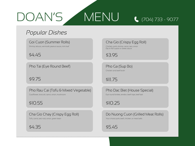 Daily UI 030 menu dailyui pricing dailyui daily 100 challenge dailyuichallenge