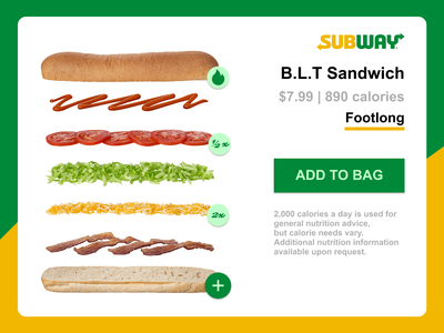 Daily UI 033 subway ui sandwich ui customize ui customize sandwich daily ui customize dailyui033 dailyui daily 100 challenge dailyuichallenge