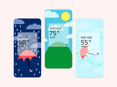 Daily UI 037 sunny rainy windy weather ui daily ui weather dailyui daily 100 challenge dailyuichallenge