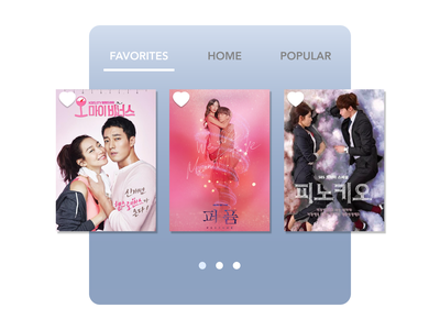 Daily UI 044 kdrama favorites daily ui favorites dailyui044 dailyui daily 100 challenge dailyuichallenge