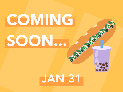 Daily UI 048 sandwich boba bubble tea banhmi coming soon coming soon ui daily ui coming soon dailyui daily 100 challenge dailyuichallenge