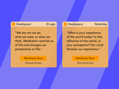 Daily UI 049 meditation headspace notification daily ui notifications dailyui049 daily 100 challenge dailyuichallenge