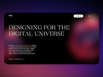 Redesign Digital Design Studio web fonts typography portfolio minimal colorful clean uxuidesign ui ux modern design trend design trends design studio design agency