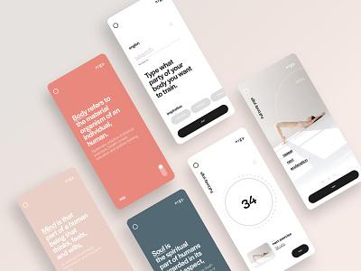 UI Sport app ux colors typography ui app design