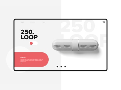 UI Design for Loop branding web ux colors typography ui app design