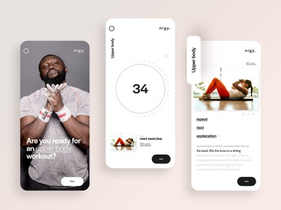 UI design for a sport and meditation app 🏃🏽‍♀️ designer visual design uidesigner typography uiux ux branding sports sportapp colors app ui design