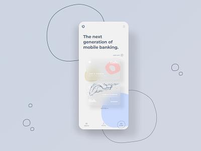 A mobile banking app design 💸 uiuxdesigner uidesigner ux uiux typography graphicdesign colors ui app design