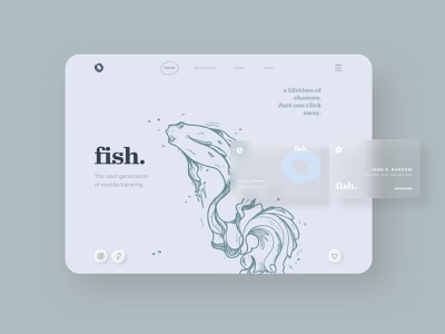 Webdesign Concept for a Banking App 👩🏽💻 web flat visual design uidesigner uiux typography graphicdesign colors ui design