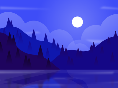 Caerulus illustration design vector landscape