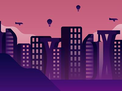 Cityscape design vector landscape