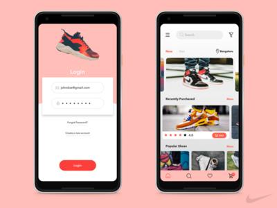 Nike Shoes App Concept