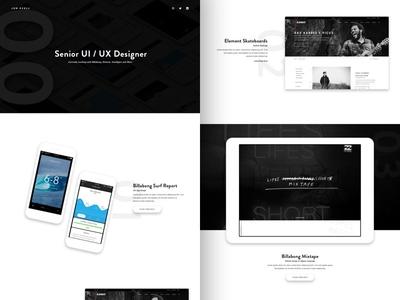 Portfolio site portfolio website ui