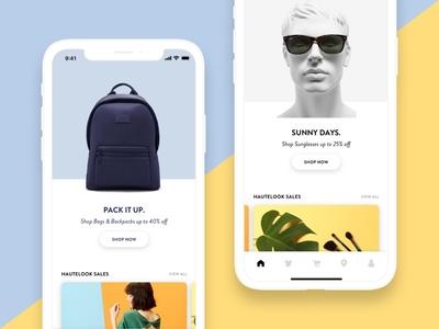 Nordstrom Rack / HauteLook App (Concept)