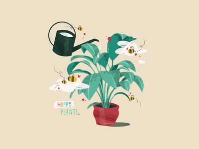 Happy plants nature plant icon minimal logo illustration flat branding illustrator illustraion digitalart digital design artwork art 2d