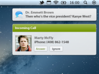 Incoming call, notification center style