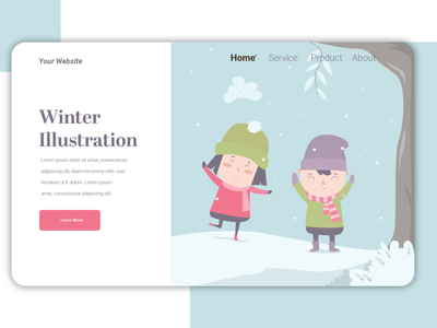 Winter Ilustration vector icon logo web ux ui illustration graphic design flat design