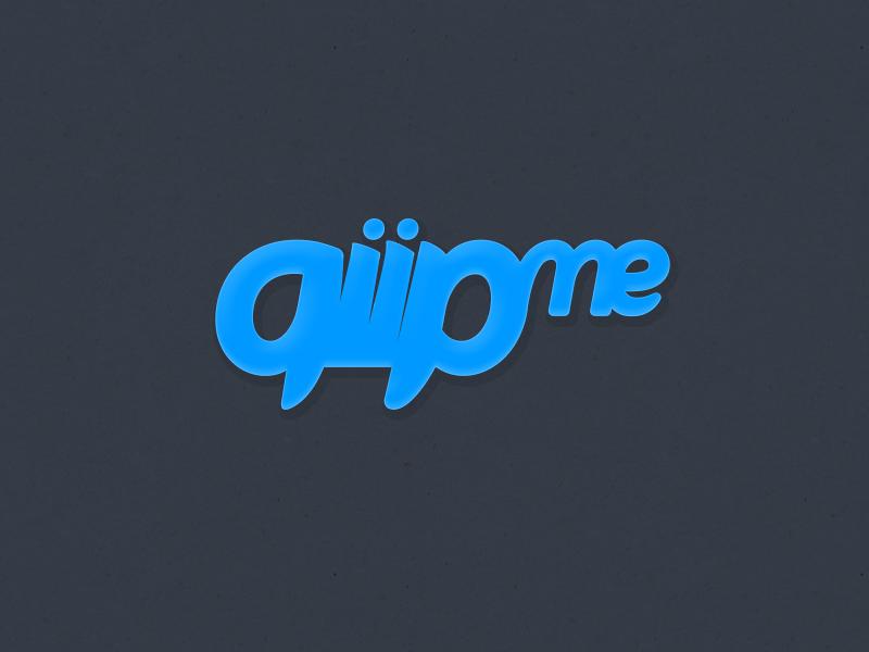 qiip.me logo logo type bubble brand glow logotype