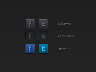 Social Buttons soical buttons navigation iphone app