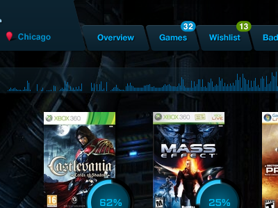 Games Community games nav navigation dark buttons