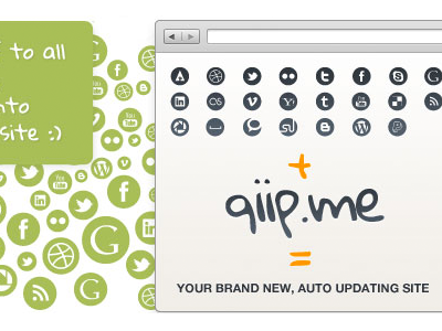 qiip.me home page qiip browser landing page signup page signup