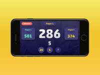Darts game app interface