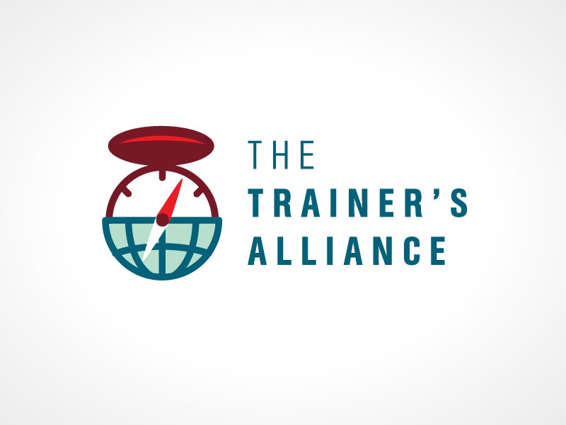 The Trainer's Alliance Logo Concept logo globe earth world planet compass direction north travel icon minimalist simple