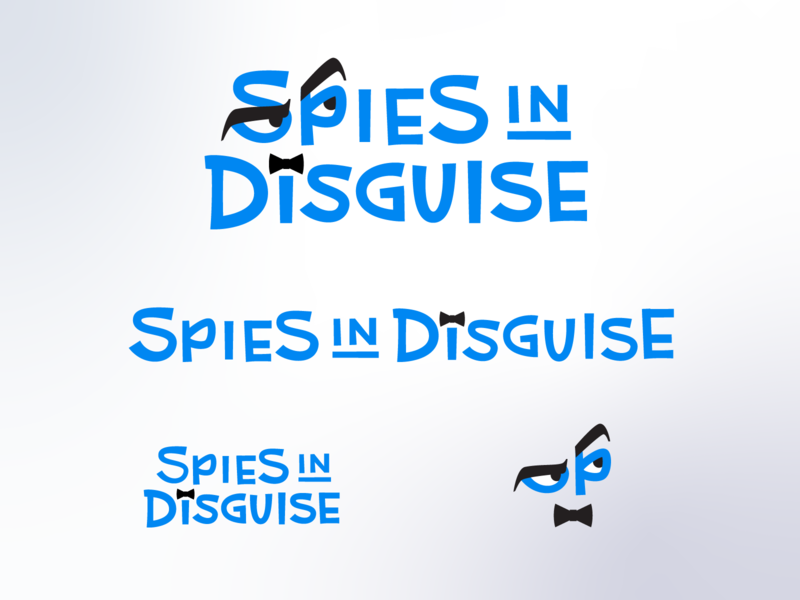 Spies in Disguise Title Treatment branding retro midcentury modern custom lettering type design type logo design brand identity logos movie hoodzpah