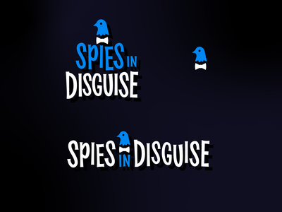 Spies in Disguise Title Treatment branding retro midcentury modern custom type typogaphy type design brand identity logo design logo movie logo movie type