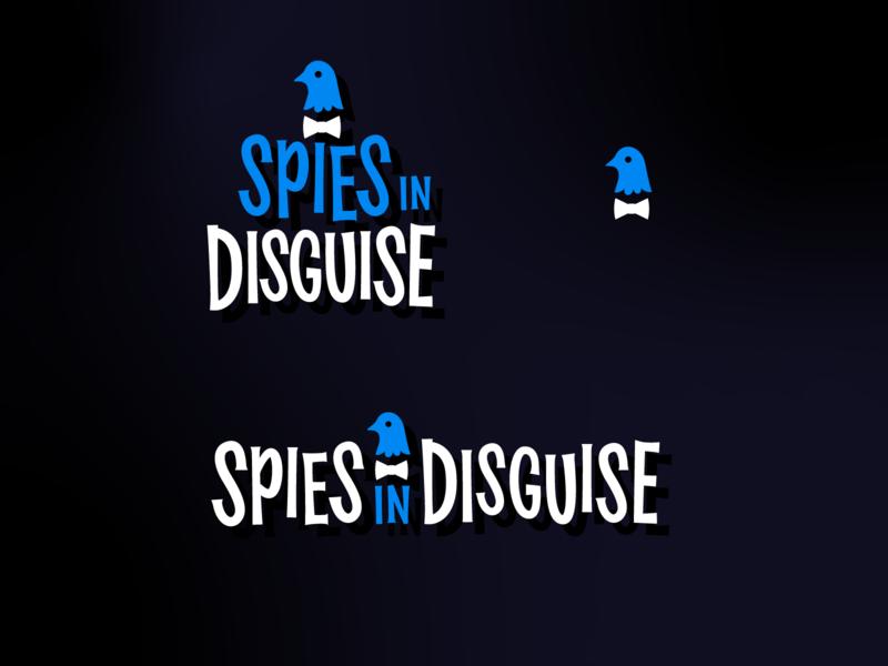 Spies in Disguise Title Treatment branding retro midcentury modern custom type typogaphy type design brand identity logo design logo movie logo movie type