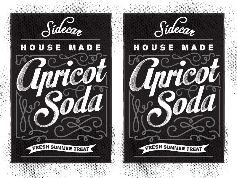 sidecar apricot soda labels 2 up by jennifer hood dribbble dribbble